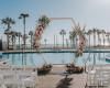 浪漫的野外露营 帐篷酒店超越地点的加利福尼亚海滨婚礼目的地