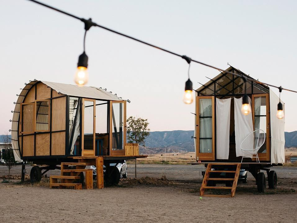 浪漫的野外露营 帐篷酒店蓝天中心