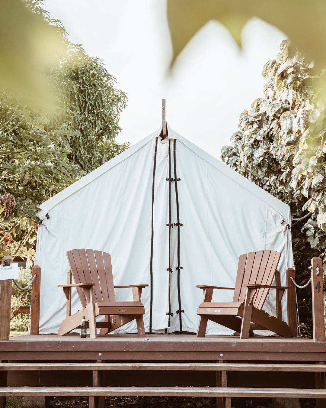 浪漫的野外露营 帐篷酒店奥洛拉鲁营