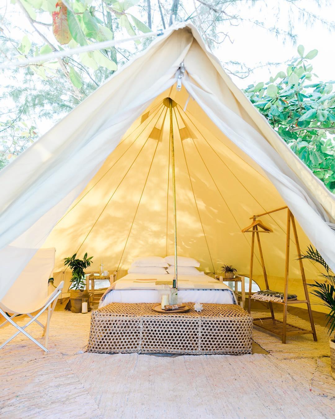 浪漫的野外露营 帐篷酒店亲属