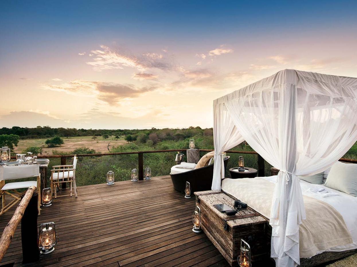 浪漫的野外露营 帐篷酒店狮子沙查克利树屋