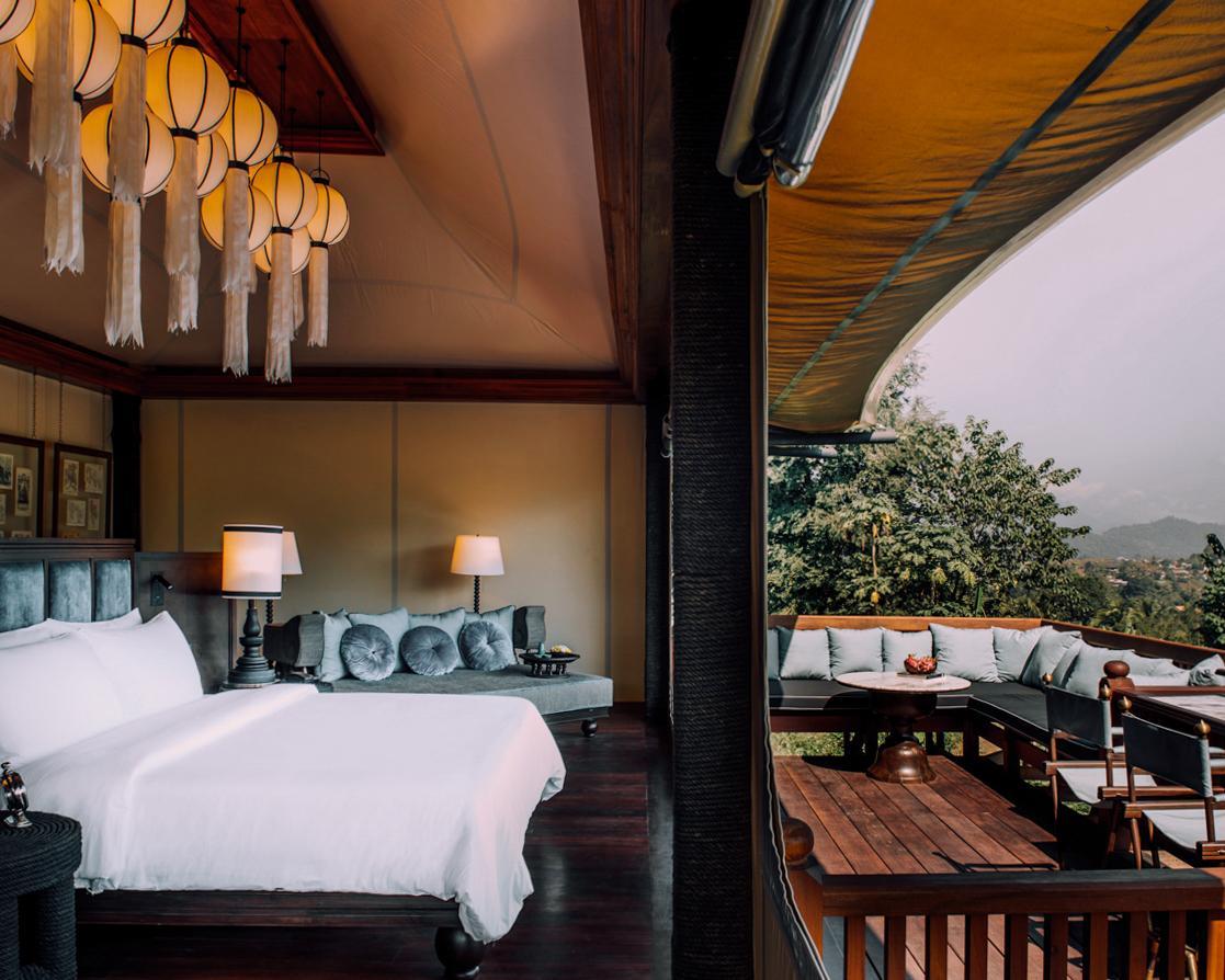 浪漫的野外露营 帐篷酒店琅勃拉邦瑰丽酒店