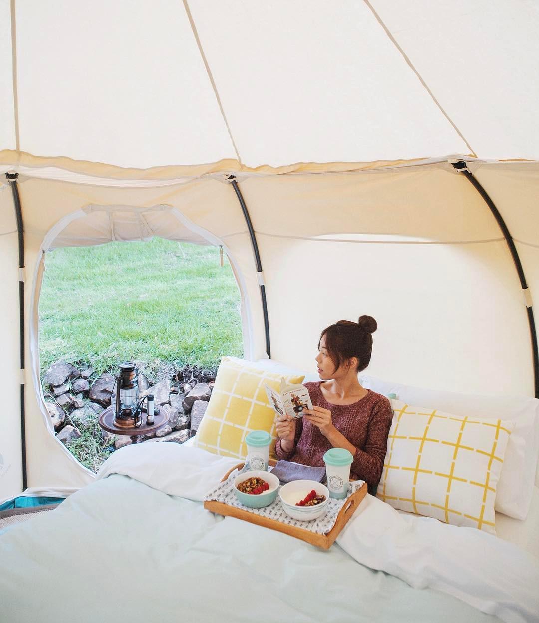 浪漫的野外露营 帐篷酒店蒂尔巴湖营