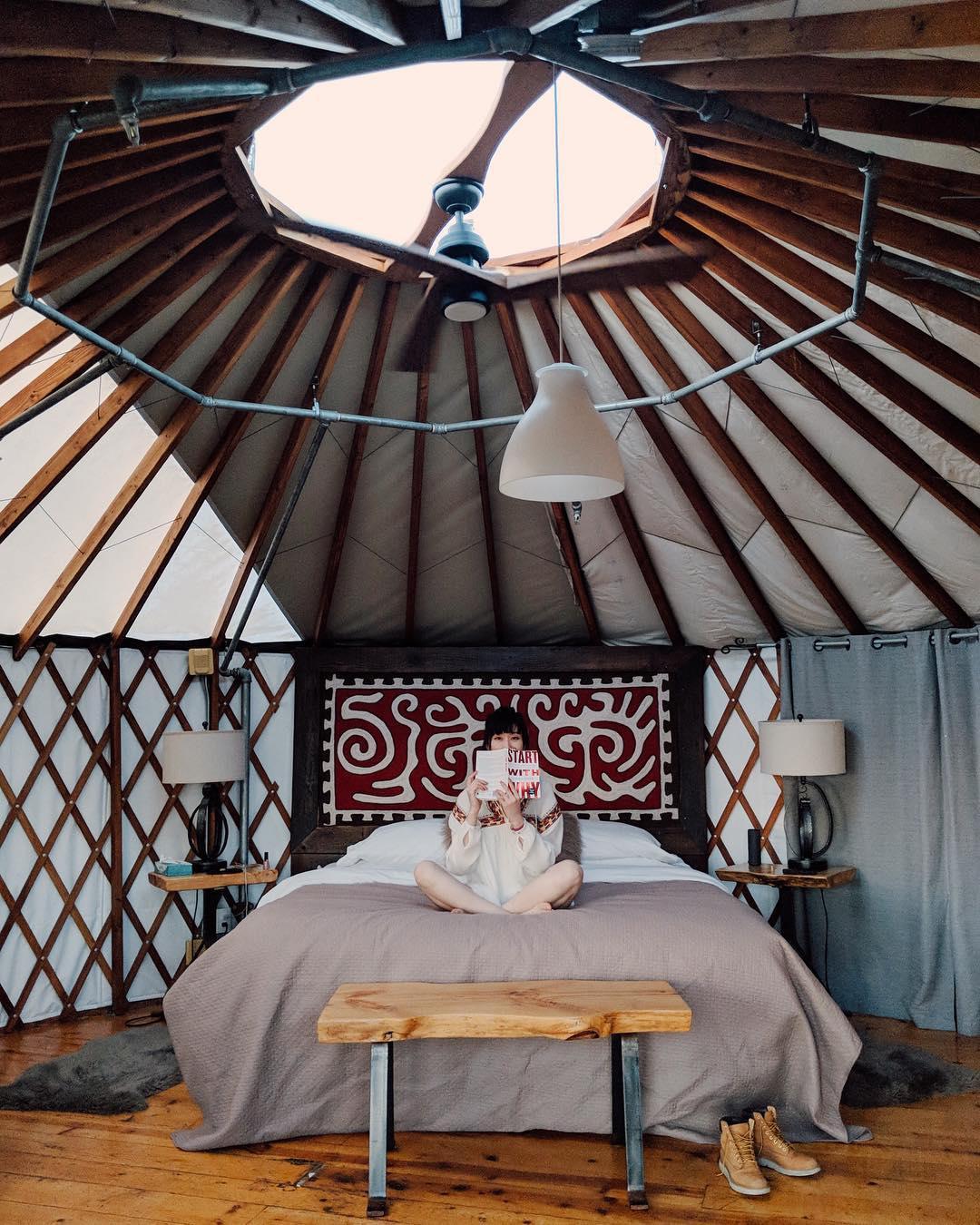 浪漫的野外露营 帐篷酒店树骨度假村