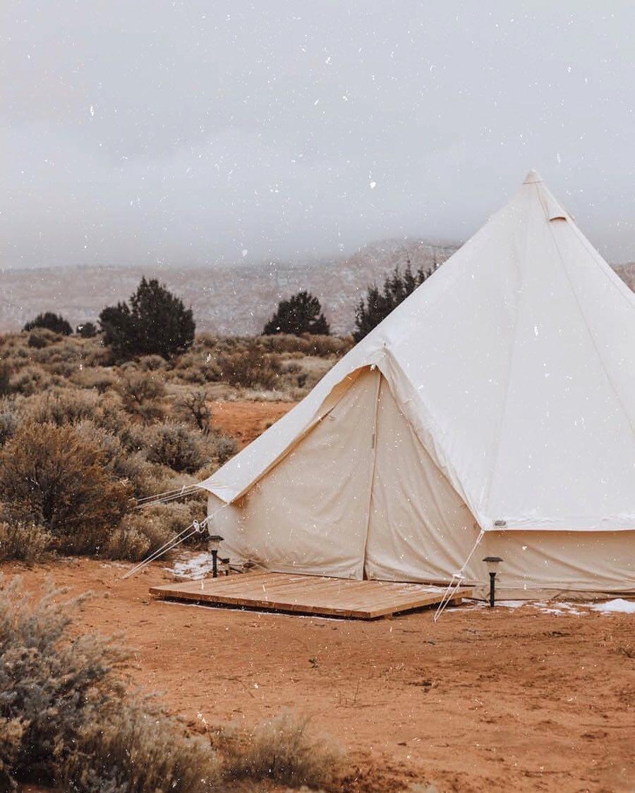 浪漫的野外露营 帐篷酒店锡安豪华露营露营地