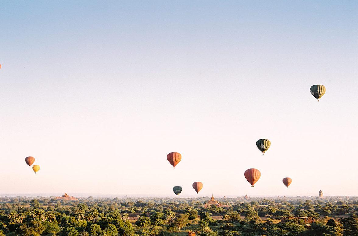 贝壳酒店帐篷 贝壳酒店帐篷客酒店 在蒲甘的气球中翔