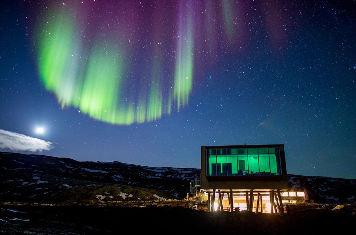 贝壳酒店帐篷 贝壳酒店帐篷客酒店 在ION豪华冒险酒店观看北极光
